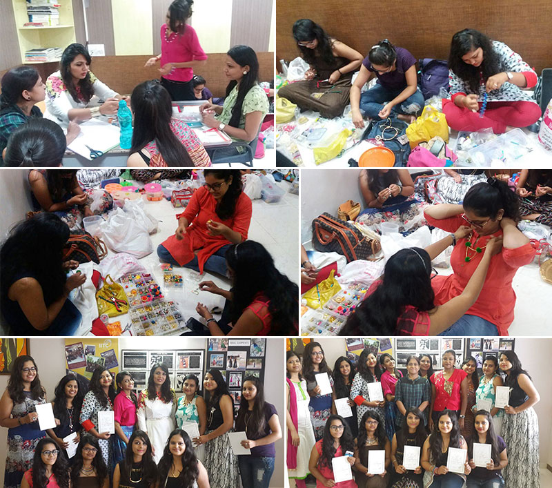 Fashion Accessory Workshop by Ms. Khanjana Mota at IITC Ahmedabad