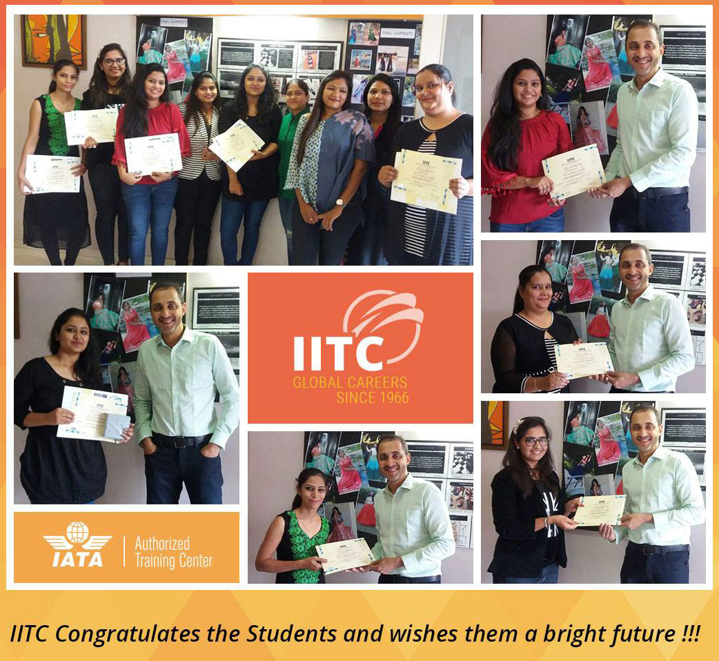 IITC Fasshion Designing students were Awarded Diplomas by the Director, Mr. Sandesh Urval on successful completion of the 15 months training program