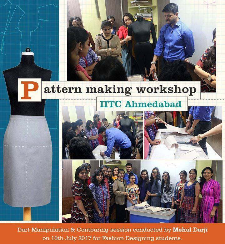 pattern  making workshop by mehul in IITC