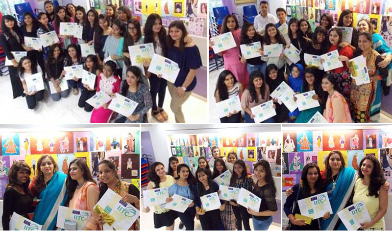 Fashion Designing course Graduates of IITC being awarded diplomas in Mumbai