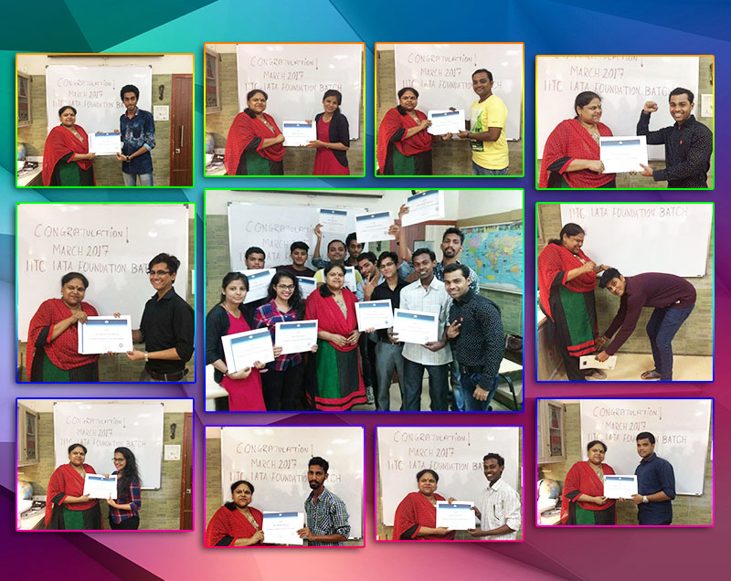 TOPPERS OF IATA Foundation MARCH 2017 IITC Ghatkopar