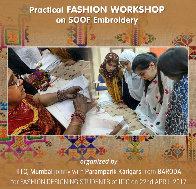 Practical FASHION WORKSHOP on SOOF Embroidery