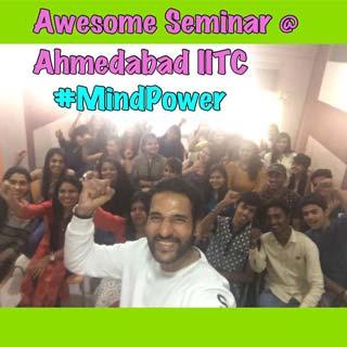 Seminar by Umesh Pherwani for Ahmedabad Students